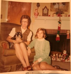 Mom and me at Christmas
